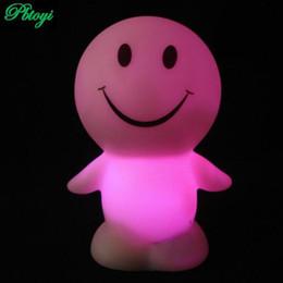 Wholesale Sunny Light - Wholesale- Sunny smile doll lamp colorful led night light vinyl flash toys strange hot toys PA0009