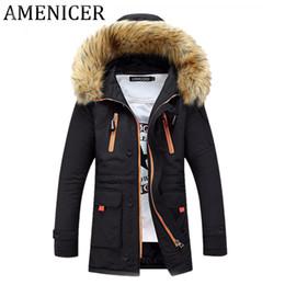 Wholesale Parkas Chaqueta - Wholesale- Men Parka New Casual Fashion Mens Winter Jackets Turn-down Collar Hooded Brand-Clothing Chaqueta De Invierno De Los Hombres