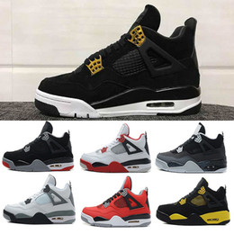Wholesale Pure Races - Cheap Air Retro 4 Men Basketball Shoes Military Blue Pure Mars Thunder bred Oreo Fire Red White Cement sports Athletic sneaker eur 41-47