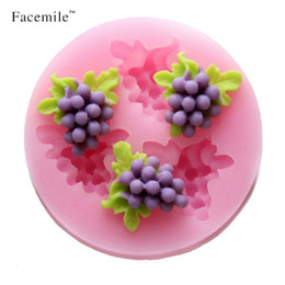 Wholesale 3d Silicone Soap Molds Mould - Gift Facemile 3D Grape Silicone Mold Soap Fondant Candle Molds Sugar Craft Tools Chocolate Moulds Silicone Molds For Cakes