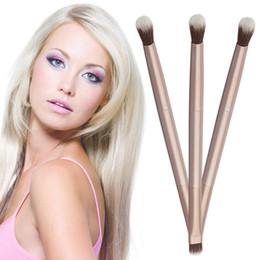 Wholesale Eye Shading Brush - Double-Ended Blending Eyeshadow Eye Shading Brush Makeup Cosmetics Brush Pen Hot