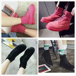 Wholesale Ladies Pink Suede Boots - 2017 chelsea boots for women girl pink black suede leather designer luxury fashion ladies ankle boots size 5-8