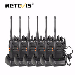 Wholesale Two Radios - Wholesale- 6pcs Retevis H777 Handheld Radio Walkie Talkie UHF 400-470MHz 16CH Portable Ham Radio Hf Transceiver Handy Two Way Radio Station