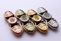 Wholesale Ends Zinc Alloy - Zinc Brass Alloy spinners Fingertip Gyro the crusade hand spinners High-end Fidget Spinner Toys with ceramic bearing 4 colors free shipping