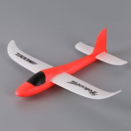 Wholesale Outdoor Hand Launched Glider - Hot Hand Launch Throwing Glider Aircraft Inertial Foam EVA Airplane Toy Plane Model Outdoor Fun Sports