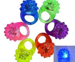 geführte geleeringe Rabatt LED Erdbeer Blinklicht Ringe Blink Party Weiches Licht Leuchten Gelee Fingerringe Spaß Party Dekoration Zufällige Farbe