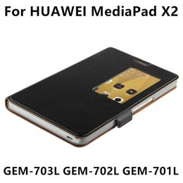 Wholesale cover tablet huawei mediapad - Wholesale- Case Cowhide For Huawei MediaPad X2 Protective Smart cover Genuine Leather Tablet For Honor X2 GEM-703L GEM-702L 701L Protector