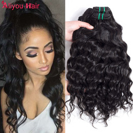 Wholesale Hair Weave Hairstyles - Top Selling Water Wave Hairstyles Unprocessed Mink Brazilian Water Wave Virgin Human Hair Weave Bundles Wholesale Cheap Price Just for you