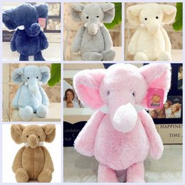 Wholesale Children Hand Pillow - wholesale Fashion Baby Animal Plush Elephant Doll Stuffed Elephant Plush Pillow Kids Toy Children Room Bed Decoration Toys christmas gifts