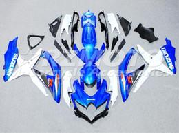 Wholesale Gsxr New Fairings - New ABS Injection mold Fairings Kit Fit For SUZUKI GSXR600 GSXR750 08 09 10 R600 R750 K8 GSX-R600 GSXR 600 750 2008 2009 2010 blue white