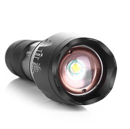 Wholesale Led Torch Tactical Usa - USA E17 G700 XML T6 4000LM Tactical cree led Torch Zoomable LED Flashlight Torch light for AAA or 18650 Rechargeable battery