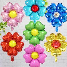2019 globos en forma de flor 50 unids decoración de la sala de fiesta 16 pulgadas flor de globos Cinco flor en forma de globos de helio de papel de la fiesta de cumpleaños del bebé proveedores de bolas rebajas globos en forma de flor