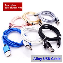 Wholesale Iphone 3m Chargers Cable - Micro usb cable Nylon Braided Fast Charge USB Data Cable For Samsung Huawei 1M 2M 3M Android charger cables