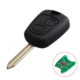 Wholesale Citroen Key Button - Car remote control Key 2 Buttons 434Mhz ID46 Chip For Citroen Saxo Picasso Xsara Berlingo with PCF7961 chip