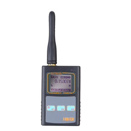 Wholesale Frequency Counter Handheld - Freeshipping Handheld Digital LCD Frequency Counter with UHF Antenna 50MHz-2.6GHz for Two Way Radio