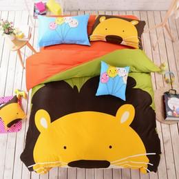 Wholesale Lion Comforter Sets King Size - The Lion King Animal Print Bedding Set for Kids Boy Girl Children 100% Cotton Cartoon Queen King Queen Full Size Duvet Cover Set