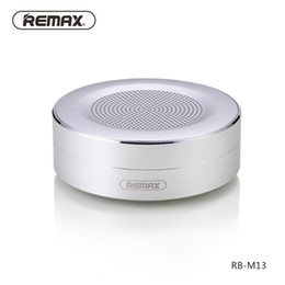 Wholesale bass steel - New Metal Speakers Bluetooth connection REMAX M13 Wireless Mini Speakers Wholesale support TF card outdoor bass small Steel Subwoofers