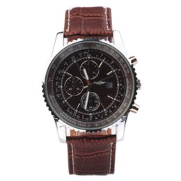 Wholesale Hot Mens Gifts - Higt quality 2018 hot sale AAA mens watches top luxury brand fashion leather band sport male clocks casual business quartz wristwatch gifts