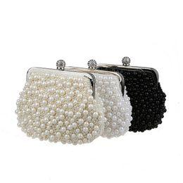 Wholesale Women Satin Cheongsam - 2017 Fashion brand desginer evening bags free shipping Pearl beads hand bags cheongsam bales dinner evening bags