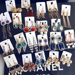 Ohrringe machen online-Mode Ohrringe Echtvergoldung verblassen nicht Hauptsächlich in Europa und dem Wind Roségold Lange Quaste Ohrringe CB029
