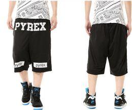Wholesale Vision Streetwear - Wholesale-PYREX Vision sweat shorts men summer streetwear hip hop shorts breeches pyrex beach wear