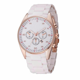 Wholesale Popular Battery Brands - Fashion popular Top Brand Men's stainless steel Silicone band Date Calendar quartz wrist Watch 1535