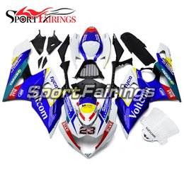 Wholesale Gsx K5 - Blue Yellow Injection Fairings For Suzuki GSXR1000 GSX-R1000 K5 05 06 2005 2006 Sportbike ABS Motorcycle Fairing Kit Covers