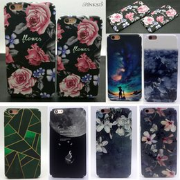 Wholesale Iphone Star Pouch - Luxury Fashion Retro Colorful Flower Plants Stars Shine Case Cute Cartoon Back Cover Phone Cases For iphone 5 6 6s 7 plus
