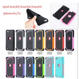 Wholesale Case For Touch5 - Dual Layer Armor Protection Hybrid Impact Heavy Oak Duty Shockproof Real Rugged Mossy Defender Case for Ipod touch5 touch6 IPHONE4S