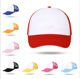 Wholesale Baseball Rock - Solid Baseball Caps Logo DIY Mesh Sun Hats Adult Summer Blank Trucker Hat Men Hiphop Punk Rock Plain Cap YYA256
