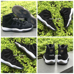 Wholesale Womens Christmas Tops - 2017 Air Retro 11 Low PRM Heiress Black Stingray Womens Mens Basketball Shoes Top Quality Athletic Sport Sneakers 852625-030 Eur Size 36-44