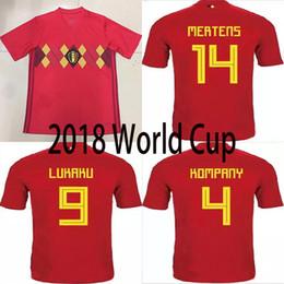 Top Thai Quality 2018 world cup Belgium national team soccer jersey LUKAKU  FELLAINI E HAZARD NAINGGOLAN DE BRUYNE football Jersey belgium national  jersey ... 4f4f33d55