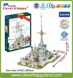 Wholesale Lineage Toys - Wholesale-Best selling toy 3d puzzle game Lineage 2 Aden Castle paper model 224PCS