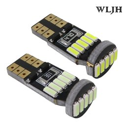 Wholesale Passat Interior - WLJH Canbus Car LED T10 W5W 4014 SMD Light Bulb 12v Interior Lighting Reverse Lincese Side Parking Clearance Lamp NO ERROR