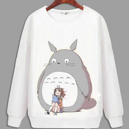 Wholesale Cardigans Cats - Tonari no Totoro hoody Cat anime sweatshirt Cute design cotton hoodies Cartoon sweat shirt Quality sweater