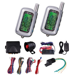 Wholesale Vehicle Remote Start - CarBest Vehicle Security Paging Car Alarm 2 Way LCD Sensor Remote Engine Start System Kit Automatic | Car Burglar Alarm System CA-999