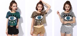 Wholesale Hip Hop Jazz Club - Club costumes new female singer show jazz dance hip-hop dance costume big eyes sequined jacket