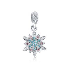 Wholesale Snowflake Decoration Purple - Wholesale 10pcs Christmas Decoration Crystal & Silver Charm Beads Snowflake Pendant Fit European Pandora Charms Sterling Bracelet & Necklace