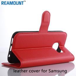 S5 mini couro on-line-Luxo estojo de couro tampa flip carteira saco com titular do cartão kickstand casos de telefone para samsung s5 mini para samsung 7 edge case