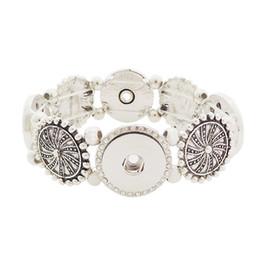 Wholesale Elastic Love Bracelet - Wholesale Noosa Chunks Snap Bracelets Metal Alloy Elastic Bracelet Ginger Snap Button Bracelets Women Fashion DIY Jewelry