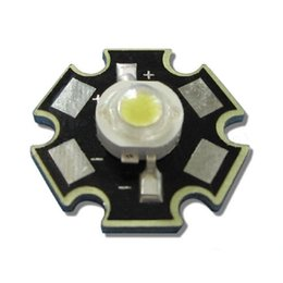 lampara led cuentas blanco frio Rebajas 50 unids / lote 3W 45mil Chip Blanco Fresco 10000 ~ 15000K LED Parte de la lámpara de la bombilla del grano con la base de la estrella 20mm
