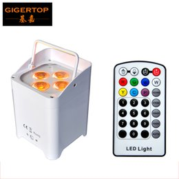 Wholesale Infrared Uv - TIPTOP TP-B05 4X6W RGBWA UV 6IN1 Casting Aluminum Battery Wireless Led Par Light Infrared Remote Control White Black Color Case Optional