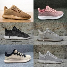 Wholesale Light Brown Boots Men - 2017 Originals Tubular Shadow Men&Women Running Shoes Fashion Originals Tubular Shadow 3D 350 Boots Training Shoes Size 5-10 Free Shipping