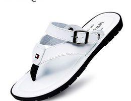 Wholesale Canvas Beach Shoes For Men - Flip Flops Men Sandals Summer slippers Shoes For Casual Walking Seaside Beach Breathable Slides Men's Brand Designer Flats 2017 G165