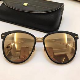 Wholesale Linda Farrow - LF547 Linda Farrow Luxury Fashiong Sunglasses With Coating Mirror Lens UV Protection Popular Brand Designer Titanium Round Frame Top Quality
