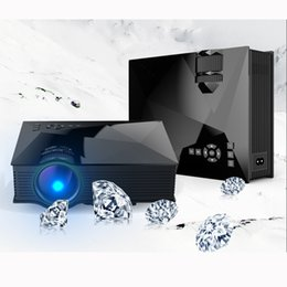 Wholesale Phone Projectors - Wholesale-1200 lumens latest pico projector mobile phone UC46 wifi home theater beamer support miracast UC 46