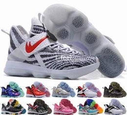 Wholesale Glow Dark Rainbow - 2017 LB 14 James XIV 14s Mens Basketball Shoes,Rainbow Zebra Christmas Rio Glow Coast Elite Athletic Sports Men LBJ Sneakers Trainers 7-12