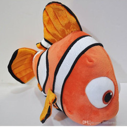 "Wholesale Small Plush Fish - 1pcs 9"" 23cm small plush toy Nemo clownfish Nemo plush toy golden fish hot selling super gifts for kids free shipping"