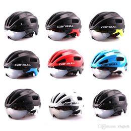 Wholesale Clock Bike - CAIRBULL new bike riding safety helmet TT goggles helmet clock riding helmets