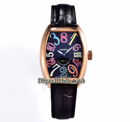 Wholesale Rose Gold Brown Mechanical - Super Clone Luxury Brand CRAZY HOURS 8880 CH Black Dial Automatic Mens Watch Rose Gold Leather Strap High Quality New Sport Cheap Watches